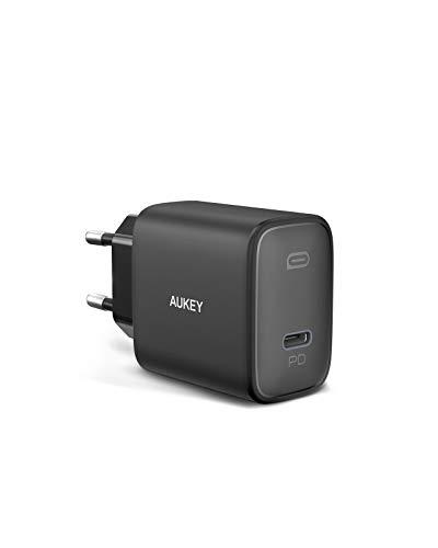 AUKEY Caricatore USB C 20W per iPhone 12, caricatore rapido con Power Delivery 3.0, alimentatore USB C per iPhone 11/11 Mini / 11 Pro, iPad Pro Air Mini, AirPods, Samsung, Huawei, Switch
