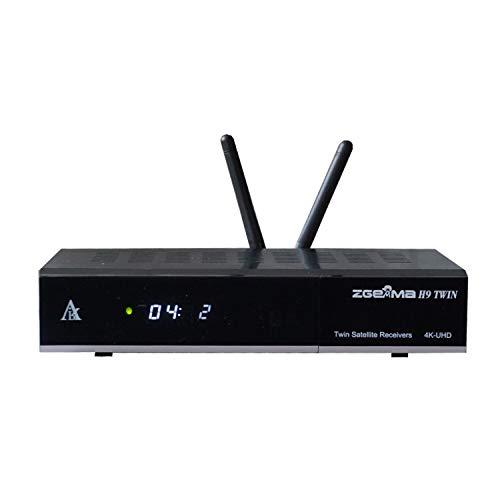 zgemma h9twin 4k UHD dvb s2 + dvb s2 satellite tv receiver support iptv