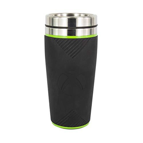 Xbox, tazza da viaggio riutilizzabile, tazza termica per caffè e tè con custodia in silicone, facile da pulire, mantiene le bevande calde, capacità 450 ml, a prova di perdite