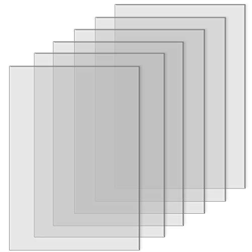 TXErfolg Fogli Acrilici Trasparenti 12,7 cm x 17,78 cm / 5 x 7 Pollici Pannello Acrilico per Cornice per Foto Segnali da Tavolo in Vetro per Calligrafia e Pittura Spessore 2 mm / 0,08 Pollici 6 Pezzi