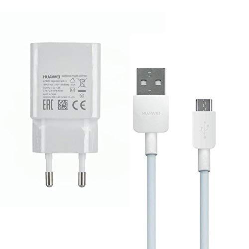 Huawei HW-050200E01 - Alimentatore di rete con micro USB per Huawei P10 Lite/ P9 Lite/ P8/ P8 Lite/ P8 Lite 2017/ P Smart/ P Smart 2019 Honor 7 6/ Ascend P8 P7, 2 Ampere, colore: Bianco