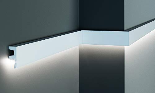 Cornice per illuminazione indiretta led a parete o soffitto - EL501 (2 metri)