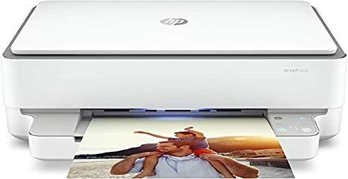 HP Envy 6020 (5SE16B) Stampante Multifunzione a Getto di Inchiostro, Stampa, Scansiona, Foto, Wi-Fi Dual-Band, USB 2.0, A4, HP Smart, 6 mesi di Instant Ink inclusi nel prezzo, Grigia