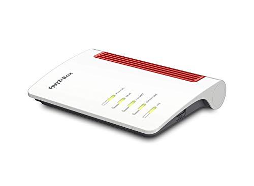 AVM FRITZ!Box 7530 International Modem Router, Wireless Veloce AC+N 1266 Mbit/s, velocità Internet fino a 300 Mbit/s, Base DECT, Media Server, interfaccia in italiano, Bianco/Rosso