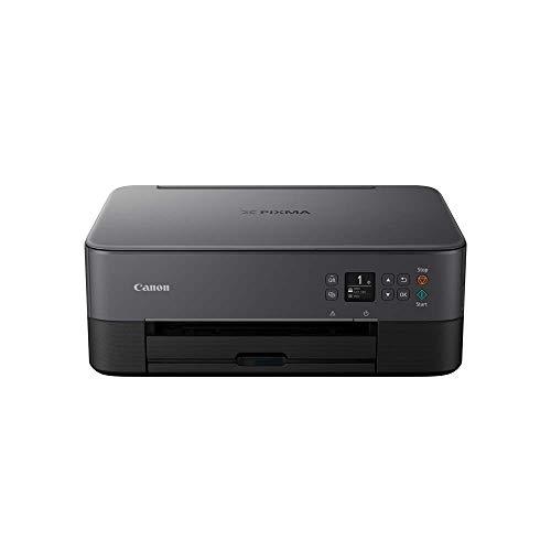 Canon PIXMA TS5350 - Stampante multifunzione a getto d'inchiostro a colori (stampa, scansione, copia, display Oled da 3,7 cm, WLAN, Print App, 4800 x 1200 Dpi), colore: Nero