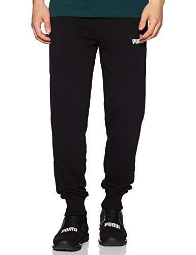 Puma Ess Logo Pants TR cl, Pantaloni Uomo, Nero Black, L