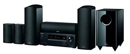 Onkyo HT-S5915 - Impianto home cinema a 5.1.2 canali (HAT-R495 Reciver + HTTP-598, sistema di altoparlanti Dolby Atmos, suono 3D, funzione AccuReflex Bluetooth), nero