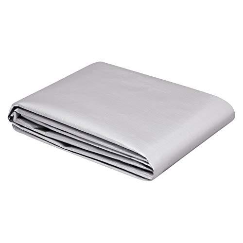 AmazonCommercial - Telo impermeabile multiuso in poliestere 2,5 x 3 metri, 0,4 mm di spessore, colore argento/nero, confezione da 1