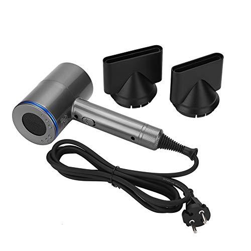 Asciugacapelli professionale 2000W, Asciugacapelli 3D senza lame, ioni negativi, resistenza alle alte temperature, 6 velocità con sistema intelligente di controllo della temperatura (blu)