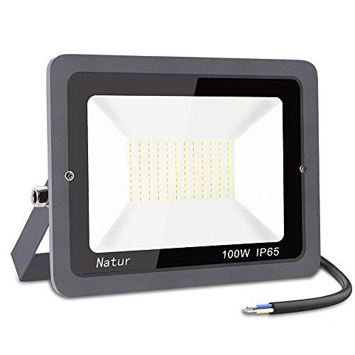 100W Faretto LED da Esterno, bapro Proiettore 10000 lumen Faro LED, Bianco Freddo 6000K Fari LED Moda, Impermeabile IP65 Lampada Luce di Sicurezza Potente Super Luminosa per Giardino Corridoio Cortile
