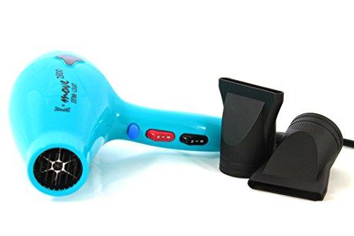KIEPE PROFESSIONAL Asciugacapelli compatto ultra-leggero K-Style Move 2800 - Phon - Colore Azzurro