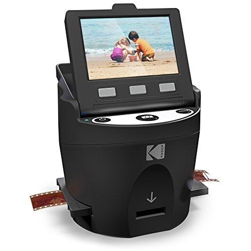 KODAK SCANZA - Scanner digitale per pellicole e diapositive, Converte pellicole e negativi da 35mm, 126, 110, Super 8 & 8mm in immagini JPEG, schermo LCD da 3.5' inclinabile