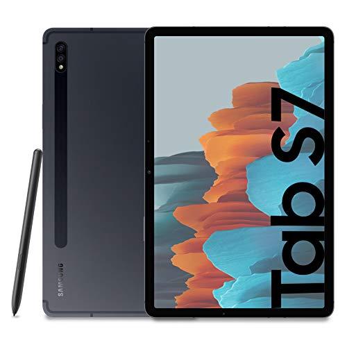 Samsung Galaxy Tab S7 Tablet S Pen, Snapdragon 865 Plus, Display 11.0' WQXGA, 128GB Espandibili fino a 1TB, RAM 6GB, Batteria 8.000 mAh, LTE, Android 10, Mystic Black [Versione Italiana]