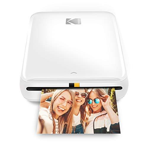 Kodak Step stampante Stampante fotografica portatile, wireless, tecnologia ZINK Zero Ink, app Kodak gratuita per iOS e Android | Stampa foto adesive 2'x3' da dispositivi Bluetooth o NFC, Bianco