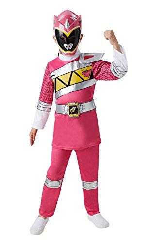 Rubie' s, costume ufficiale da Power Rangers Dino Charge, per bambini, Pink Ranger