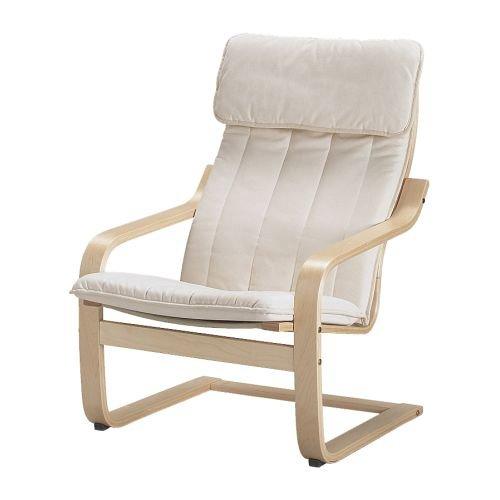 Ikea Poang, poltrona con cuscino, fodera e struttura