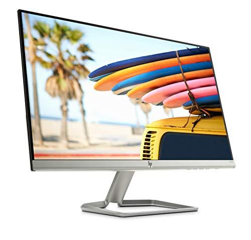 HP – PC 24fw Monitor 23.8� FHD 1920 x 1080 a 60 Hz, IPS, Antiriflesso, Borderless, Tempo risposta 5 ms, AMD FreeSync, Regolazione Inclinazione, Comandi su schermo, Low blue light, , HDMI, Argento