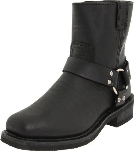 HARLEY-DAVIDSON El Paso/Blk Short Harness W/Inside Zip, Stivali da Motociclista per Uomo Nero Size: 45 EU