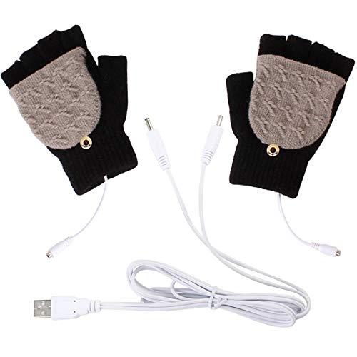 Guanti riscaldati USB inverno pieno & mezze dita guanti riscaldanti guanti caldi