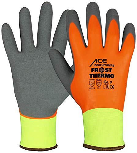 ACE Frost Thermo Guanti di Protezione dal Freddo - Guanti da Lavoro - Rivestimento in Schiuma di Lattice Repellente all'umidità - 08/M