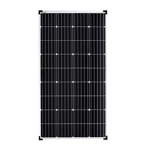 enjoysolar®, pannello solare monocristallino, 150Watt, 12V, modulo fotovoltaico ideale per il giardino, il camper, il caravan
