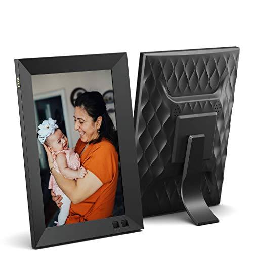 Cornice digitale USB NIX 8 pollici - Supporto per ritratti o paesaggi, risoluzione HD, auto-rotazione, telecomando magnetico - Mescolate le vostre foto e i vostri video nella stessa presentazione
