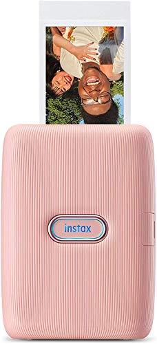 Fujifilm Instax Mini Link, Stampante Fotografica a Sviluppo Istantaneo per Smartphone, Connessione Bluetooth tra Stampante ed App Dedicata, Foto Formato Mini 62 x 46 mm, Rosa (Dusky Pink)