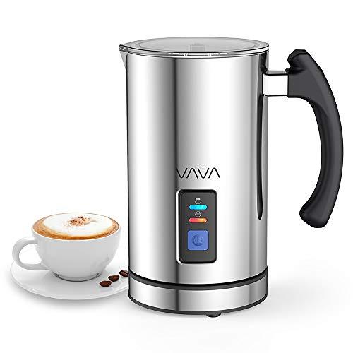 VAVA Montalatte Elettrico 500W 240mL Schiumatore Acciaio Inox Caffè Latte Caldo Freddo Rivestimento Antiaderente Controllo Temperatura Strix Indicatore Livello Facile da Pulire