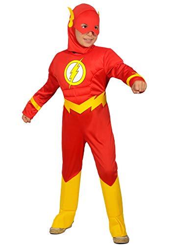 Ciao-The Flash costume bambino originale DC Comics (Taglia 3-4 anni), Colore Rosso, 11681.3-4