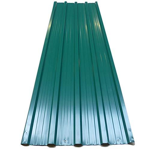 Deuba Lastra profilo Set di 12 lastra tetto 129cm x 45cm = 7 m² verde - grigio pannelli da tetto