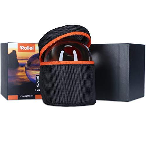 Rollei Lensball 90mm I Sfera di Vetro I Sfera di Cristallo I Sfera della foto con la borsa di stoccaggio & panno di pulizia in microfibra per la pulizia della sfera di vetro