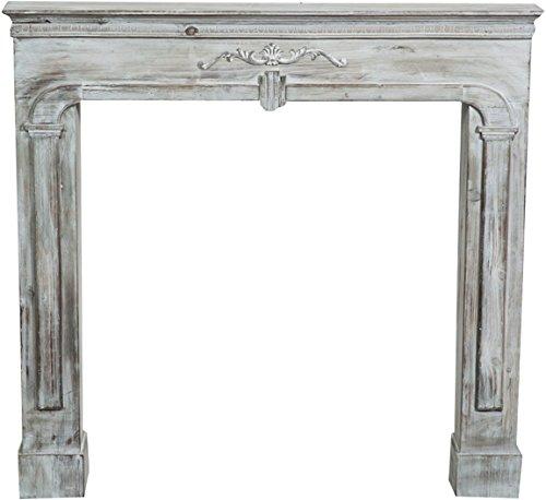 Biscottini Cornice Decorativa Decorazione caminetto Legno Camino Design Shabby Sala Home Decor L104xPR17xH99 cm