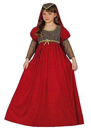 Fiori Paolo-Giulietta Costume Bambina, Rosso, L (7-9 anni), 61225.L