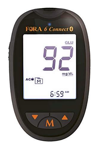FORA6 Connect - Glucometro Multiparametrico Bluetooth - Glicemia, Ematocrito, Emoglobina, Chetoni, Acido Urico, Colesterolo Totale