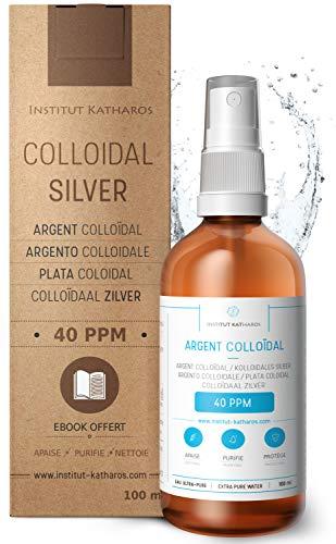 Argento colloidale premium 40 ppm 100 ml � Formula a concentrazione ottimale, particelle più piccole, risultati migliori � Certificato da laboratorio � Prodotto in UE � Ebook gratuiti inclusi