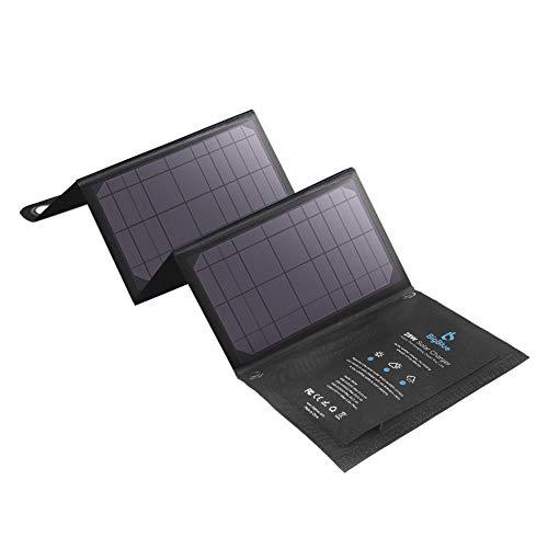 BigBlue 28W Caricatore Solare Portatile 3 USB Port (5V/4.8A Max Total) Pannelli Solari Waterproof Flessibile per attività all'Aperto - per iPhone GoPro iPad Galaxy S7 S6 Edge S6 Plus e Altri