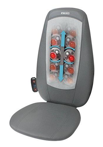 HoMedics Massaggiatore Schiena e Spalle Shiatsu, Sedile Massaggiante Regolabile per Sollievo dallo Stress, Poltrona Massaggiante per Massaggio Schiena Personalizzato, Vibrazione e Funzione Calore