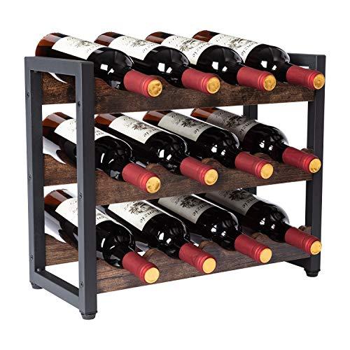 Portabottiglie Cantinetta Scaffale per Bottiglie di Vino per 12 Bottiglie