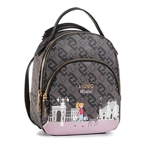 Zaino Liu-Jo backpack S in ecopelle multilogo stampa Milan donna B21LJ33