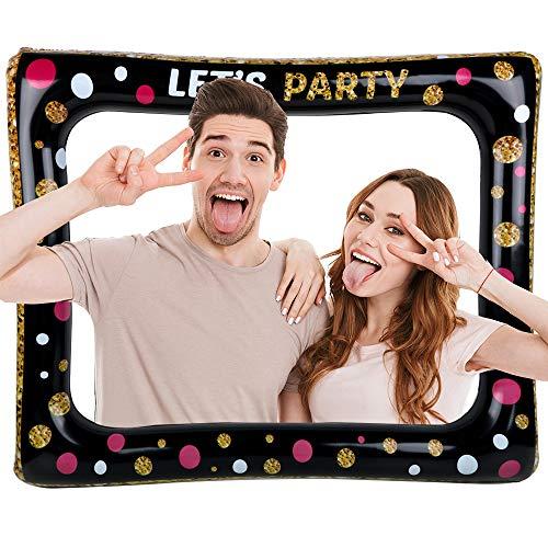 FLOFIA Frame Cornice per Selfie Gonfiabile Photo Booth Frame per Selfie Divertimento Compleanno Matrimonio Laurea Baby Shower Wedding Party Addio al Nubilato Festa Natale