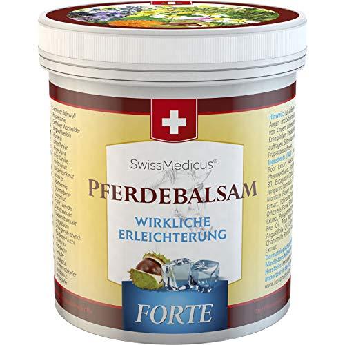 SwissMedicus - BALSAMO ALL'IPPOCASTANO - extra forte - pomata forte - 500 ml - contiene 25 estratti di erbe tra cui symphytum - ippocastano - ginepro - arnica - eucalipto