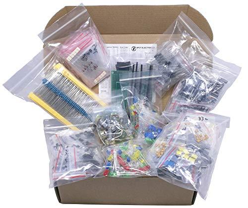 LED condensatori elettrolitici in alluminio film metallico resistori Condensatori ceramici Tramsistor Totale 1200 PCS DesignSter componenti elettronici Kit Assortimento