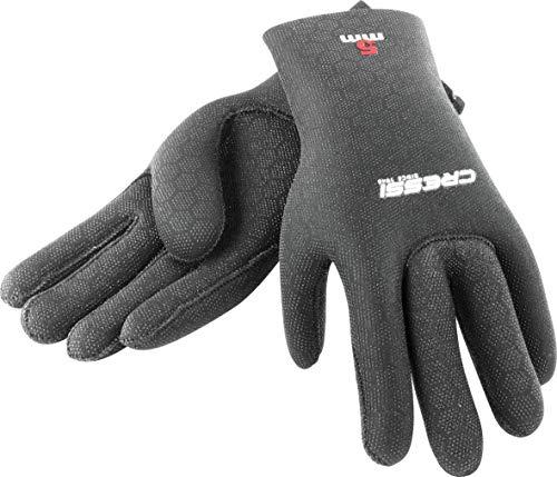 Cressi High Stretch Gloves, Guanti in Neoprene Elastico 2.5 mm per Apnea e Immersioni, Unisex Adulto, Nero/Rosso, XL