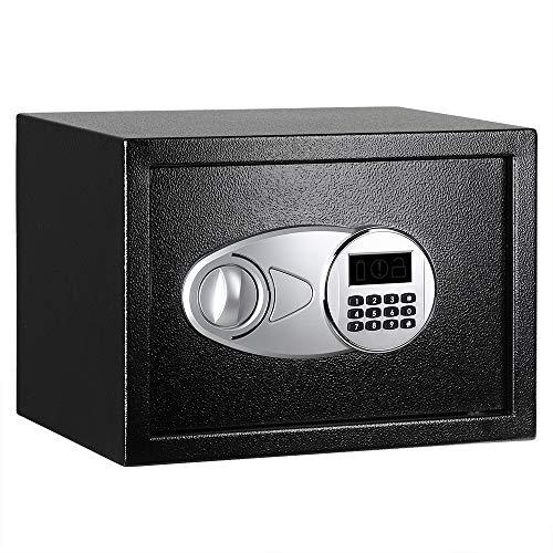 Amazon Basics - Cassaforte da 14 L, , 35 x 25 x 25 cm, colore: nero