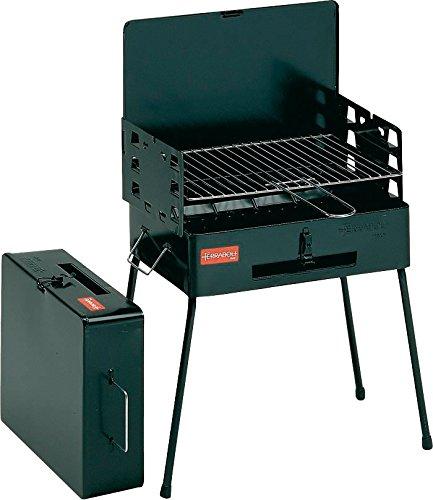 8130000 - Ferraboli Barbecue in acciaio, colore Nero, 40x30cm