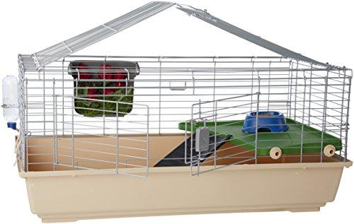 Amazon Basics - Gabbia/habitat per piccoli animali, con accessori - 105 x 62 x 50 cm, Grande
