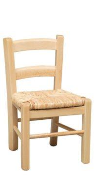 Sedia in legno per bambini