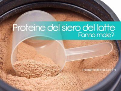 siero con proteine del latte offerte