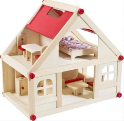 offerta casette legno bambole