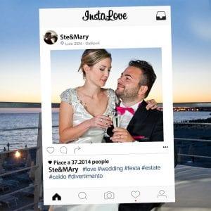 sconto cornici instagram matrimonio